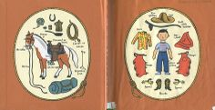 """Endpapers from """"Cowboy Small"""", Lois Lenski 1949"""