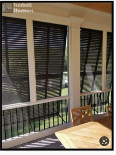 Bermuda Shutters On A Porch Outdoor Shutters, Outdoor Blinds, Outdoor Rooms, Outdoor Living, Outdoor Patios, Outdoor Kitchens, Bermuda Shutters, Bahama Shutters, Porch Privacy