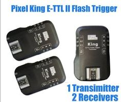 PIXEL King Wireless Radio E-TTL II E-TTL Flash Trigger for Canon DSLRs & Flashes, 1 x Transmitter + 2 x Receiver Kit by Pixel. $204.00. Compatible to CANON EOS 600D,1100D, 550D, 500D, 450D, 1000D, Rebel T3i, T3, T2i,T1i,XSi,XS, 7D, 60D, 50D, 40D, CANON EOS 5D Mark II, 1D Mark III, 1D Mark IV, 1Ds Mark III; Canon EOS 580EX II, 580EX, 430EX II, 430EX, 320EX II, 270EX , 270EX II, 220EX II Flash, Aftermarket flash Metz, Sigma, Sunpak, Nissin, Studio and outdoor flash