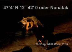 """47˚4' N 12° 42' 0 oder Nunatak. 2012    Konzept / Produktion / Performance: Andrea Nagl & Markus Wintersberger 2012    Soundcollage: Foundfootage, Field Recordings und Interviews    """"(…) ich wurde zu einem Stein, der seine eigene Spur ins Eis wälzte."""" (Ilija Trojanow, EisTau), via Tumblr"""