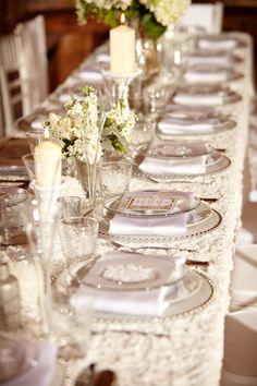 Rustic Winter White Tablescape