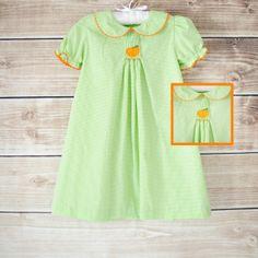 9/3/2013  Smocked Pumpkin Apron Dress