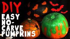 DIY VIDEO TUTORIAL | Easy No-Carve Pumpkins 3 ways