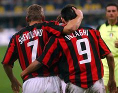 Shevchenko and Inzaghi Milan Wallpaper, Paolo Maldini, Legends Football, Cristiano Ronaldo Lionel Messi, Best Football Players, Ac Milan, Best Player, Superstar, Soccer