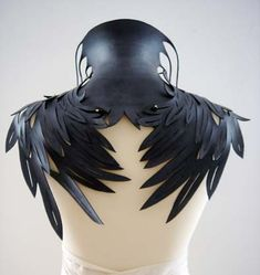 "Necklace | Thea Tolsma. ""onder vleugels"" (underwings) 2009. Backview. Rubber; inner tubes."