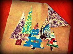 CUSTOM Ho Ho Holiday Christmas pillows Mele Kalikimaka Christmas Trees on Burlap SUBLIME One-of-a-kind