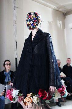 Margiela, Style Bubble. LOVE this flower festooned swing coat.
