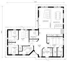 planlösningar enplanshus - Sök på Google House Of The Rising Sun, Bungalow, House Plans, Villa, New Homes, Floor Plans, Flooring, How To Plan, Interior Design