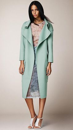burberry angora and wool shell coat | Burberry Prorsum Spring 2014 Double Angora and Wool Shell Coat Profile ...