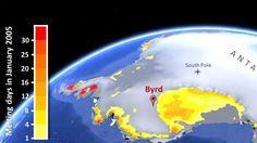 Mit einem Temperaturanstieg von 2.4 Grad seit 1958 gehöre die Zentralregion der Westantarktis zu den sich am stärksten erwärmenden Gebieten auf der Erde - eine Erwärmung dreimal schneller als prognostiziert.