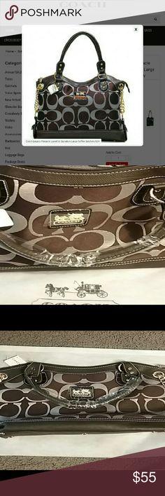 New Coach  handbag Average  size handbag,  color: chocolate brown Coach Bags