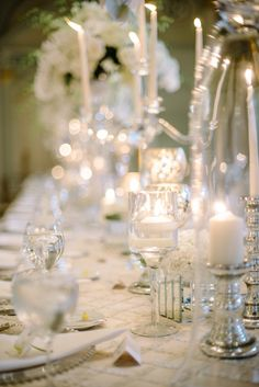 To see more glamorous details about the Atlanta #wedding: http://www.modwedding.com/2014/11/13/white-themed-ballroom-glamour-atlanta-wedding/ #wedding #wedding #wedding_reception #wedding_centerpiece photo: Sean Money + Elizabeth Fay