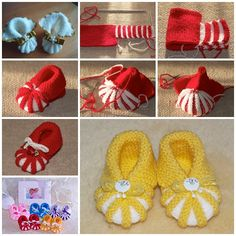 How adorable are these knitted baby booties ! They are great handmade gifts for baby . You can make a pom-pom ,butterfly, animal,beads,or flower to decorate them. And this knitted booties are very simple for any beginners. Get crafty now ! Click here for the translated Tutorial from 'Grukhina' DIY crochet-ugg-style-baby-booties