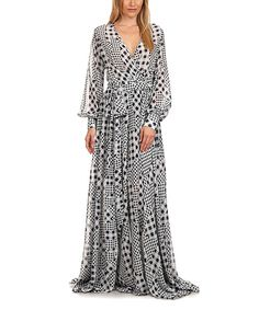 4d821eace366 Look at this Black   White Check Tie-Waist Maxi Dress - Women on
