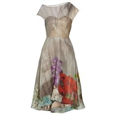 Lela Rose Floral-print silk-blend organza dress ($1,795) ❤ liked on Polyvore