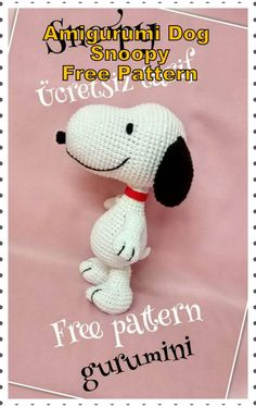 In this article we will share the amigurumi dog snoopy free crochet pattern. Amigurumi related to everything you can not find and share with you. Chat Crochet, Crochet Mignon, Crochet Dolls, Crochet Baby, Crochet Amigurumi Free Patterns, Crochet Animal Patterns, Stuffed Animal Patterns, Stuffed Animals, Crochet Animal Amigurumi