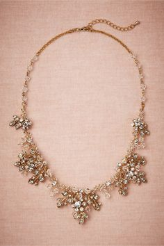 Golden Garden Necklace in Shoes & Accessories Jewelry Necklaces at BHLDN