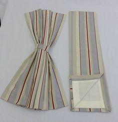 Static Caravan Curtains Choose Your Size Modern Stripe