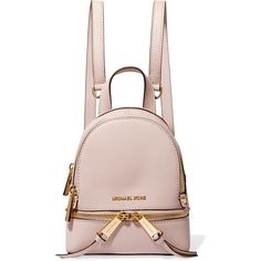 209dfd3ffacf MICHAEL Michael Kors Rhea mini textured-leather backpack ($250) ❤ liked on  Polyvore