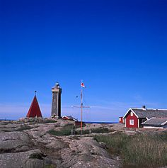Vinga fyr. The lighthouse that lets you know, you are coming close to Gothenburg. I've seen it so many times. <3