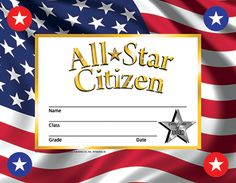 ALL STAR CITIZEN 30/SET  Vendor: HAYES SCHOOL PUBLISHING Brand: Hayes School Publishing Category: Incentives & Motivators Product Type: Motivational Grades: Ages:   Recognize your student's academic success with Hayes Stick-to-it Certificates. Hayes Stick-to-it Certificates motivate a high level of effort from students as they watch their accomplishments grow by adding reward stickers to their certificates. This positive effort is sure to lead to greater success. Stick-to-it Cer...