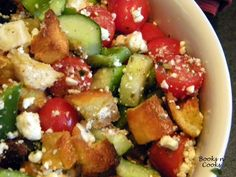 ina garten - panzanella salad. must try since i got hooked on