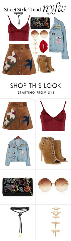 """Untitled #217"" by pehpalad on Polyvore featuring RED Valentino, Lipsy, Chicnova Fashion, Michael Kors, Yves Saint Laurent, Linda Farrow, Luv Aj, Lime Crime, StreetStyle and NYFW"
