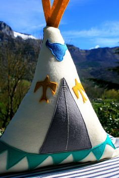 Tipi/Teepee Stuffed pillow/Felt cushion/Childrens nursery decoration/Toy on Etsy, $42.00