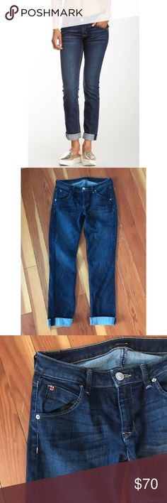 """Hudson Bacara Cuffed Jeans Bacara cuffed straight leg denim in color """"kern"""" by Hudson. 28.5"""" inseam Hudson Jeans Jeans Ankle & Cropped"""