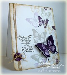 Rejoice Butterflies CAS197 by sweetnsassystamps - Cards and Paper Crafts at Splitcoaststampers