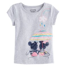 7e239b45c91c4 Disney s Mickey Mouse   Minnie Mouse Baby Girl Umbrella Graphic Tee by  Jumping ...