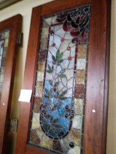 Victorian stained glass doors!