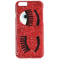 CHIARA FERRAGNI Flirting Glitter Iphone 6 Case (155 BRL) ❤ liked on Polyvore featuring accessories, tech accessories, red and chiara ferragni