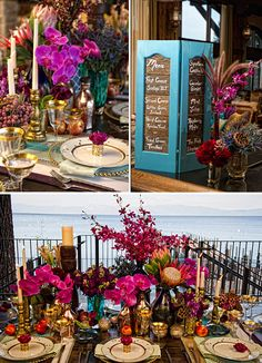 One Fine Day Events, Bellissima Floral, boho, rich colors, tablescapes
