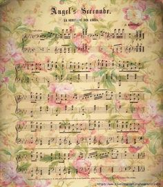 Pink roses on a music page. Vintage Labels, Vintage Ephemera, Vintage Cards, Vintage Paper, Vintage Images, Sheet Music Art, Vintage Sheet Music, Vintage Sheets, Music Sheets