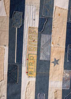 Custom-Made Vintage Patchwork Peace Flag Vintage Cotton, Vintage Denim, Blue Jean Quilts, Peace Flag, Star Spangled Banner, Material World, Prayer Flags, Vintage Patches, Star Patterns