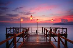 Colors of dawn on Nha Trang.
