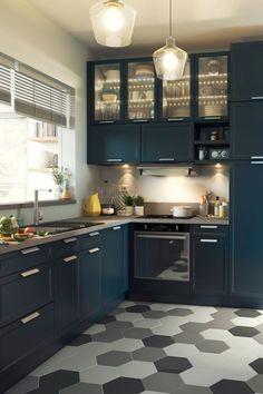 Déclinaison de gris pour le sol de la cuisine
