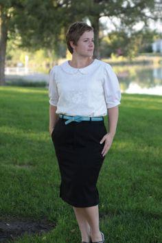 Men's Slacks to Women's Pencil Skirt Refashion: It's Always Autumn