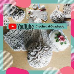 """☝️Hoy tenemos todo listo para tejer una esponja de baño al crochet.  ⠀⠀⠀  Solo necesitás saber: ☑️ Punto cadena ☑️ Punto raso (enano) ☑️ Medio punto (punto bajo) ☑️ Vareta (punto alto) ⠀⠀⠀  Material: ✔65g. de hilo de algodón. ⠀⠀⠀  Es el 3º de 5 proyectos que conforman el """"Set de Baño"""". ⠀⠀⠀  #crochet #ganchillo #crochetprincipiantes #crochetalcuadrado #setdebañocrochet #esponjadebañoC2 Crochet Solo, Crochet Hats, Crochet Earrings, Bath Sponges, Chain, Weaving, Crocheting, Tejidos, Knitting Hats"""