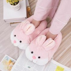 Almost sold out Save off with Worldwide Shipping – Tracking ID Included Bunny Slippers, Soft Slippers, Cute Slippers, Crocheted Slippers, Felted Slippers, Mode Kawaii, Kawaii Bunny, Kawaii Shoes, Kawaii Clothes