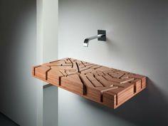 badideen fürmoderner waschbecken aus holz