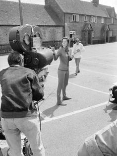 emma peel (diana rigg) during the Filming of the Avengers at Aldbury, August 1967