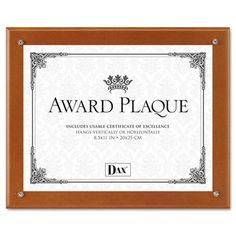 DAX N100WT Plaque-In-An-Instant Award Plaque Kit #N100WT #DAX #Frames  https://www.officecrave.com/dax-n100wt.html