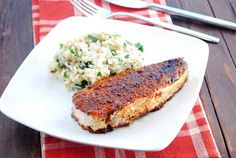 Traditional recipes for blackened halibut call for lots of butter, but I use a modest amount of olive oil and the result is delightful.