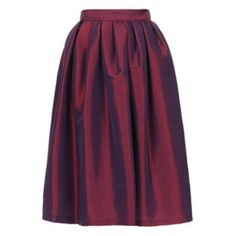 "Jones New York cranberry red silk taffeta skirt Gorgeous full skirt in cranberry red taffeta changes color in different light. Lightweight 100% raw silk so it can be worn all year. Length is 34"". Waist 26. Jones New York Skirts"
