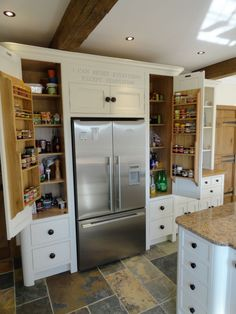 Larders and pantry cabinets, built-in or freestanding