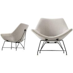 Augusto Bozzi Pair of Easy Chairs for Saporiti ca.1950's