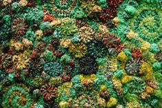 freeform knitting by Prudence Mapstone