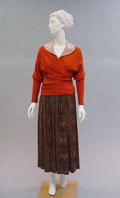 """Poiret """"feuille d'automne"""" dress, 1916"""